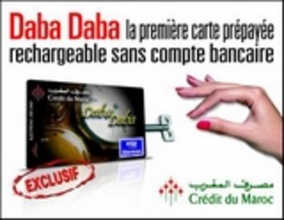 Carte Bancaire Prepayee Maroc.Transferts Financiers Et D Argent Daba Daba Credit Du